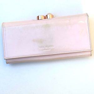 Ted Baker Soft Pink Envelope Wallet